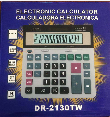 Calculator with cash detector function