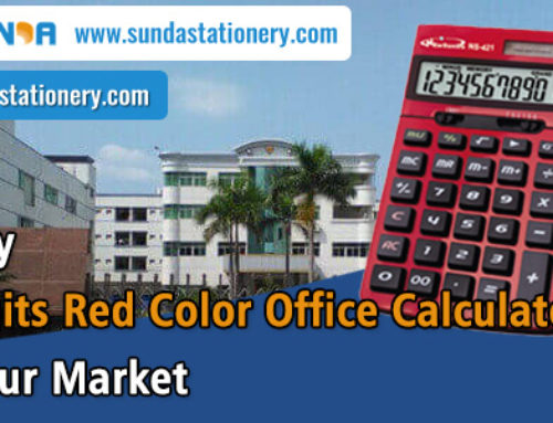 Quality 12 Digits Red Color Office Calculator For Your Market