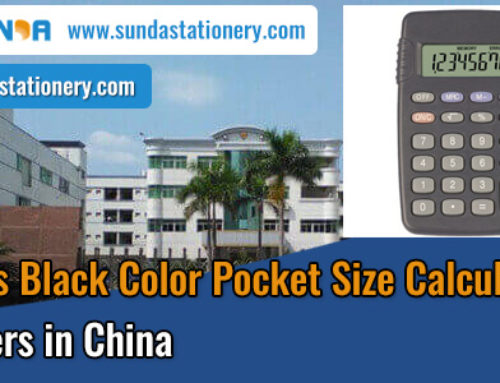 Quality 8 Digits Black Color Pocket Size Calculator Suppliers in China