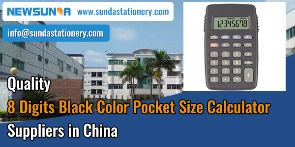 Quality-8-Digits-Black-Color-Pocket-Size-Calculator-Suppliers-in-China-NEWSUNDA